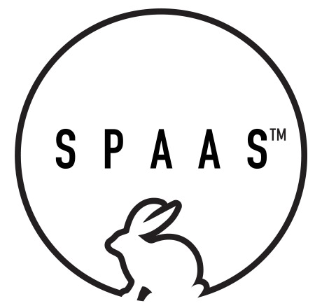 Spaas logo with rabbit